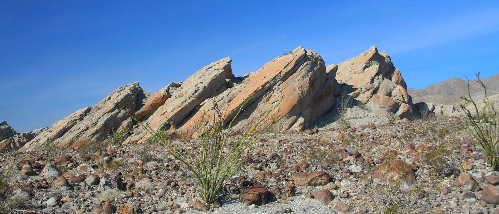 ROck formation in borrego springs
