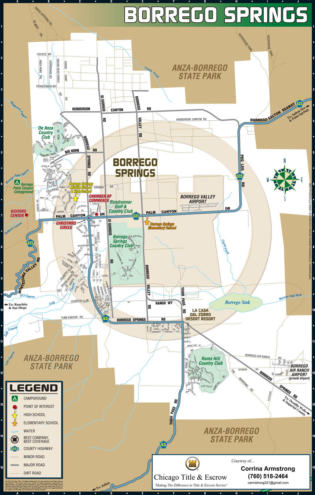 Map of Borrego Springs | Road Runner Realty
